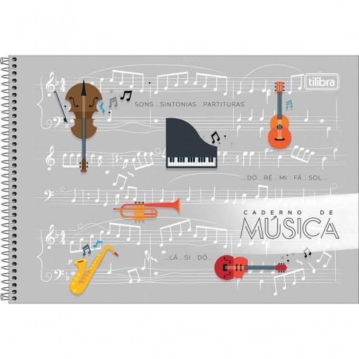 Caderno de Música Espiral Capa Dura P Tilibra 80 Folhas (Pacote com 4 unidades) - Sortido