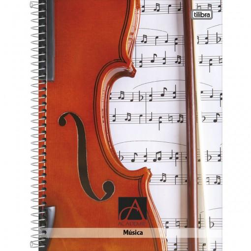 Caderno de Música Espiral Capa Dura Universitário Académie 96 Folhas - Sortido