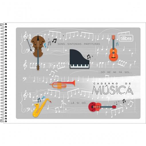 Caderno de Música Espiral Capa Flexível P Tilibra 48 Folhas (Pacote com 20 unidades) - Sortido