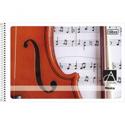 Caderno de Música Espiral Capa Flexível Pequeno Académie 48 Folhas - Sortido