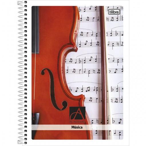 Caderno de Música Espiral Capa Forte Universitário Académie 96 Folhas - Sortido