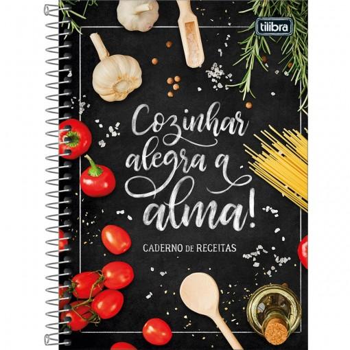 Caderno de Receitas Espiral Capa Dura 77 Folhas