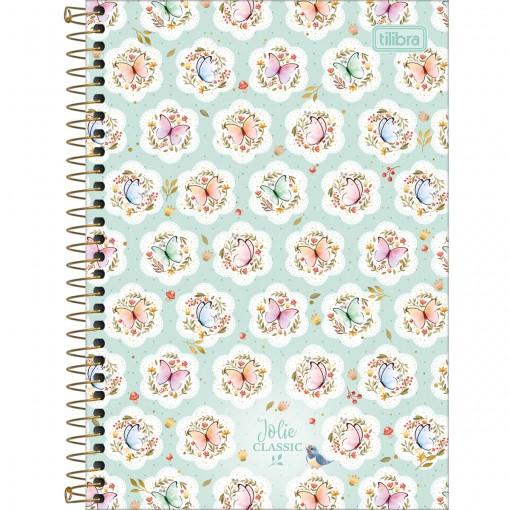 Caderno Espiral 1/4 Capa Dura Jolie Classic 80 Folhas (Pacote com 4 unidades) - Sortido