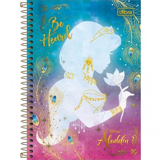 Caderno Espiral Capa Dura 1/4 Aladdin 80 Folhas (Pacote com 4 unidades) - Sortido