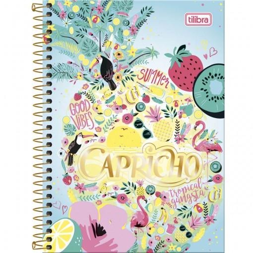 Caderno Espiral Capa Dura 1/4 Capricho 96 Folhas - Sortido (Pacote com 5 unidades)