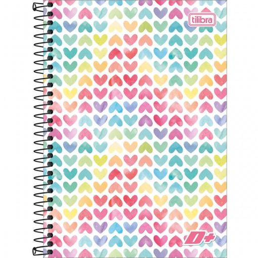 Caderno Espiral Capa Dura 1/4 D+ 200 Folhas - Sortido (Pacote com 4 unidades)