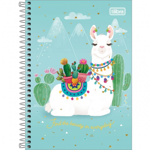 Caderno Espiral Capa Dura 1/4 Hello! 80 Folhas (Pacote com 4 unidades) - Sortido