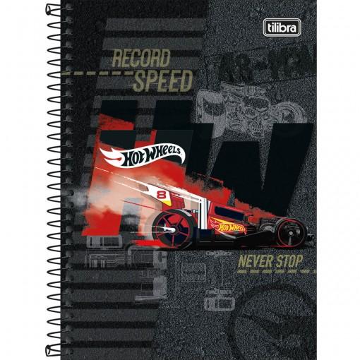 Caderno Espiral Capa Dura 1/4 Hot Wheels 80 Folhas - Sortido (Pacote com 4 unidades)