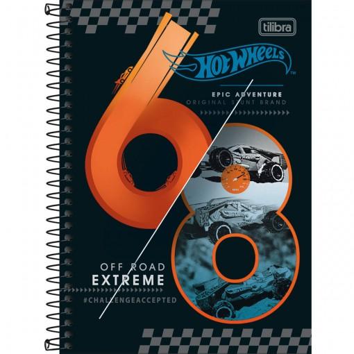 Caderno Espiral Capa Dura 1/4 Hot Wheels Concept 80 Folhas (Pacote com 4 unidades) - Sortido