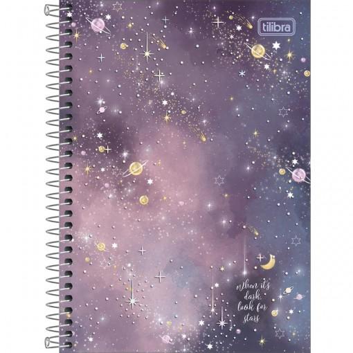Caderno Espiral Capa Dura 1/4 Magic 80 Folhas (Pacote com 4 unidades) - Sortido