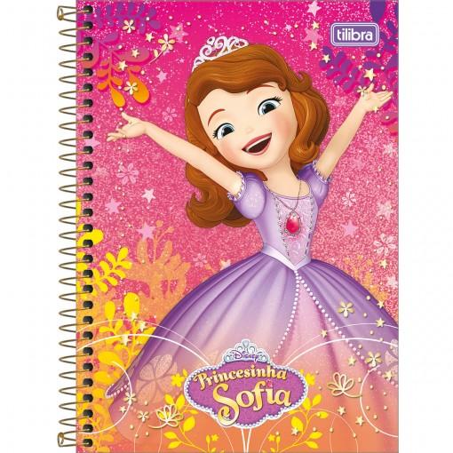 Caderno Espiral Capa Dura 1/4 Princesinha Sofia 80F - Sortido (Pacote com 4 unidades)