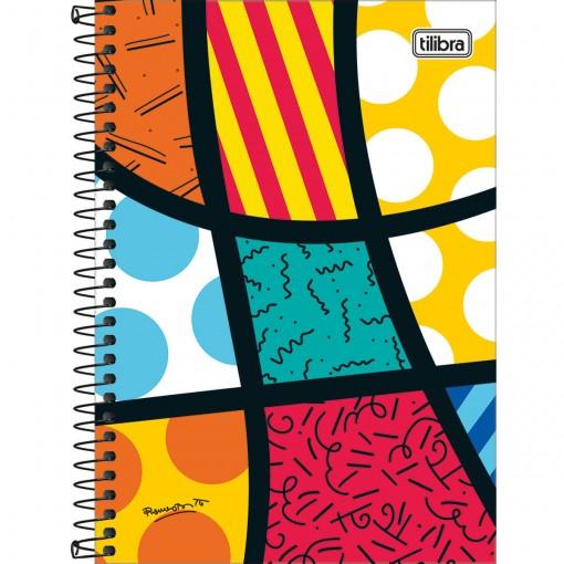Caderno Espiral Capa Dura 1/4 Romero Brito 80 Folhas (Pacote com 4 unidades) - Sortido