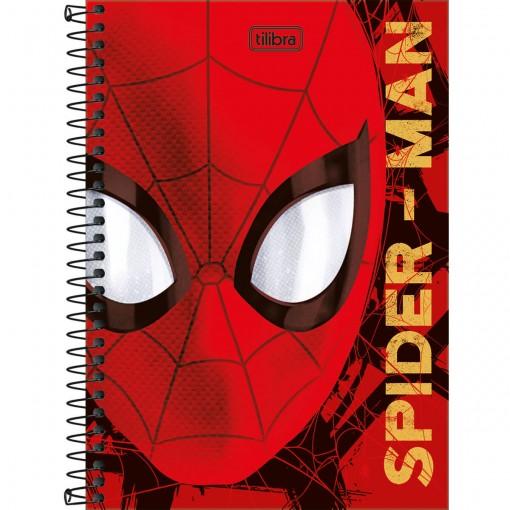 Caderno Espiral Capa Dura 1/4 Spider-Man 80 Folhas (Pacote com 4 unidades) - Sortido