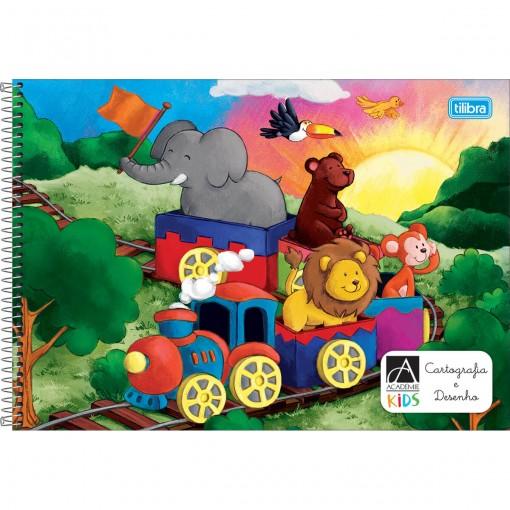 Caderno Espiral Capa Dura Cartografia e Desenho Académie Kids 96 Folhas