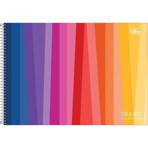 Caderno Espiral Capa Dura Cartografia e Desenho Cor e Arte 96 Folhas - Sortido (Pacote com 4 unidades)