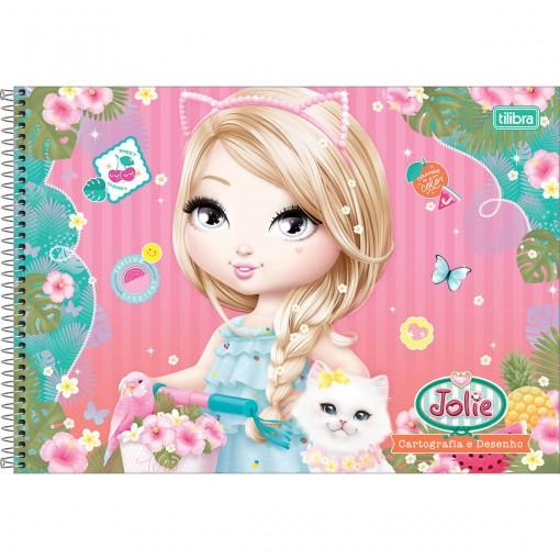 Caderno Espiral Capa Dura Cartografia e Desenho Jolie 96 Folhas - Sortido (Pacote com 4 unidades)