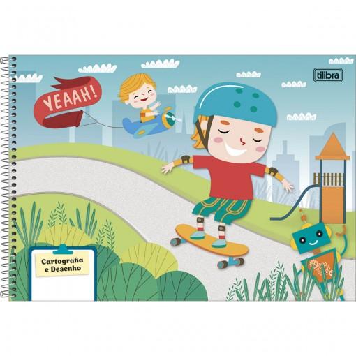 Caderno Espiral Capa Dura Cartografia e Desenho Sapeca Masculino 96 Folhas (Pacote com 4 unidades) - Sortido