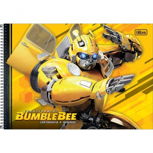 Caderno Espiral Capa Dura Cartografia Transformers 80 Folhas (Pacote com 4 unidades) - Sortido