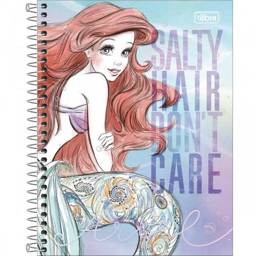 Caderno Espiral Capa Dura Colegial 1 Matéria Ariel  80 Folhas - Sortido