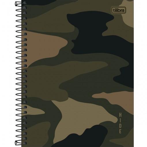 Caderno Espiral Capa Dura Colegial 1 Matéria Hide 80 Folhas