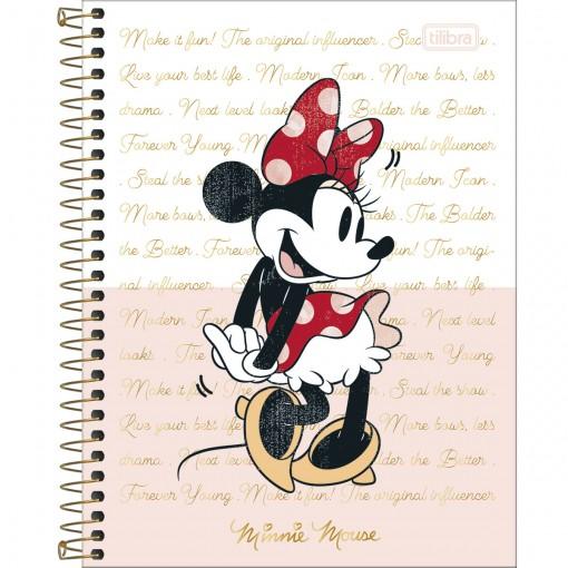 Caderno Espiral Capa Dura Colegial 1 Matéria Minnie 80 Folhas (Pacote com 4 unidades) - Sortido