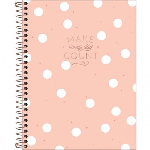 Caderno Espiral Capa Dura Colegial 1 Matéria Soho 80 Folhas - Sortido