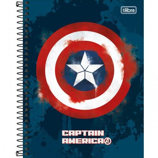Caderno Espiral Capa Dura Colegial 10 Matérias Avengers Heroes 160 Folhas (Pacote com 4 unidades) - Sortido
