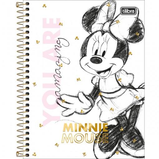 Caderno Espiral Capa Dura Colegial 10 Matérias Minnie 160 Folhas (Pacote com 4 unidades) - Sortido