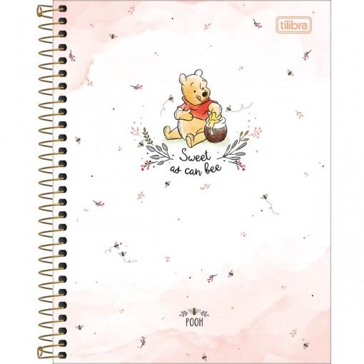Caderno Espiral Capa Dura Colegial 10 Matérias Pooh 160 Folhas (Pacote com 4 unidades) - Sortido