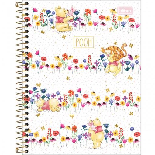 Caderno Espiral Capa Dura Colegial 10 Matérias Pooh 160 Folhas - Sortido