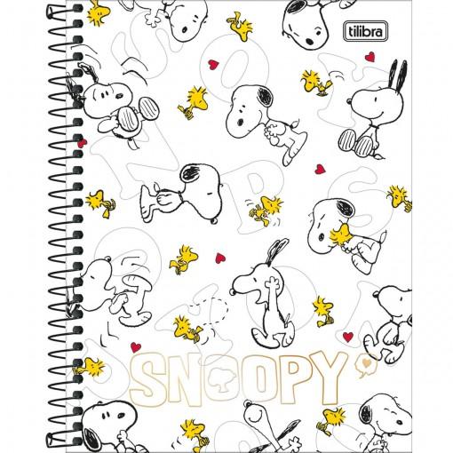 Caderno Espiral Capa Dura Colegial 10 Matérias Snoopy 160 Folhas (Pacote com 4 unidades) - Sortido
