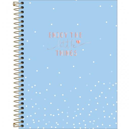 Caderno Espiral Capa Dura Colegial 10 Matérias Soho 160 Folhas - Sortido