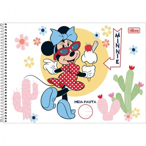 Caderno Espiral Capa Dura Meia Pauta Minnie 48 Folhas (Pacote com 4 unidades) - Sortido