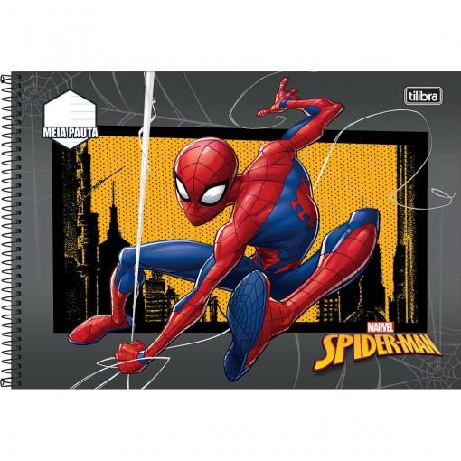 Caderno Espiral Capa Dura Meia Pauta Spider-Man 48 Folhas (Pacote com 4 unidades) - Sortido