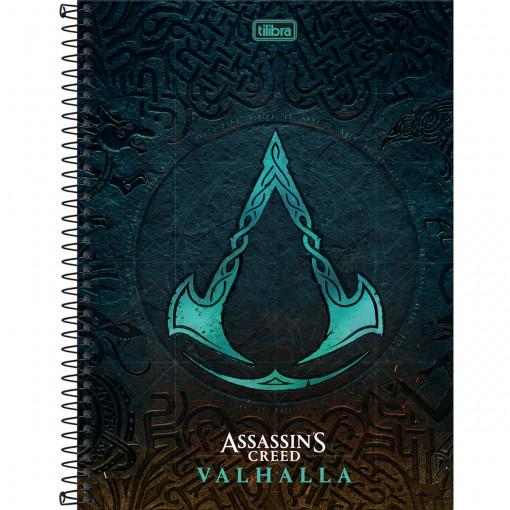Caderno Espiral Capa Dura Universitário 1 Matéria Assassin's Creed 80 Folhas (Pacote com 4 unidades) - Sortido