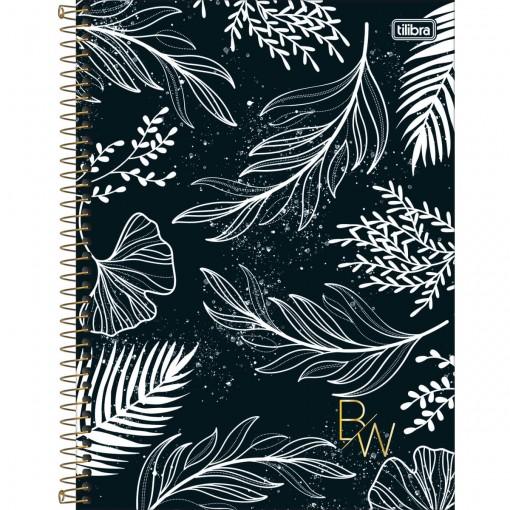 Caderno Espiral Capa Dura Universitário 1 Matéria B&W 80 Folhas (Pacote com 4 unidades) - Sortido