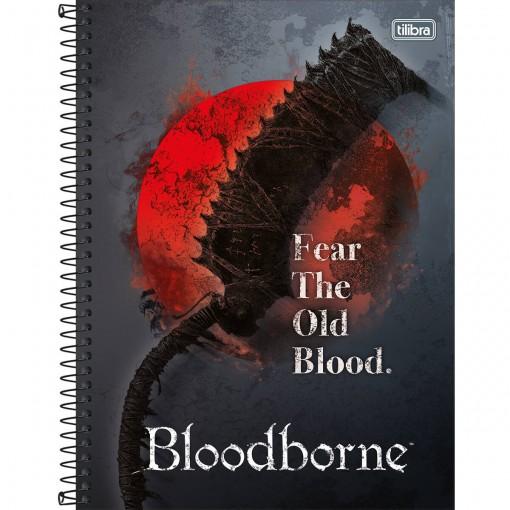 Caderno Espiral Capa Dura Universitário 1 Matéria Bloodborne 80 Folhas - Sortido