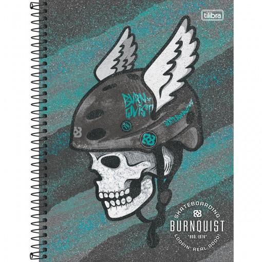 Caderno Espiral Capa Dura Universitário 1 Matéria Bob Burnquist  80 Folhas (Pacote com 4 unidades) - Sortido