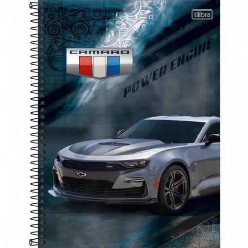 Caderno Espiral Capa Dura Universitário 1 Matéria Camaro & Corvette 80 Folhas (Pacote com 4 unidades) - Sortido