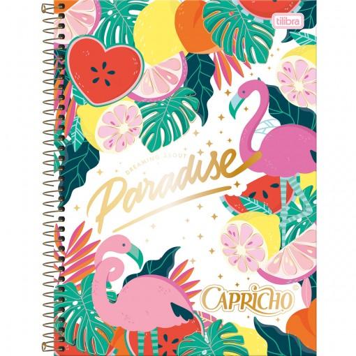 Caderno Espiral Capa Dura Universitário 1 Matéria Capricho 80 Folhas - Paradise - Sortido