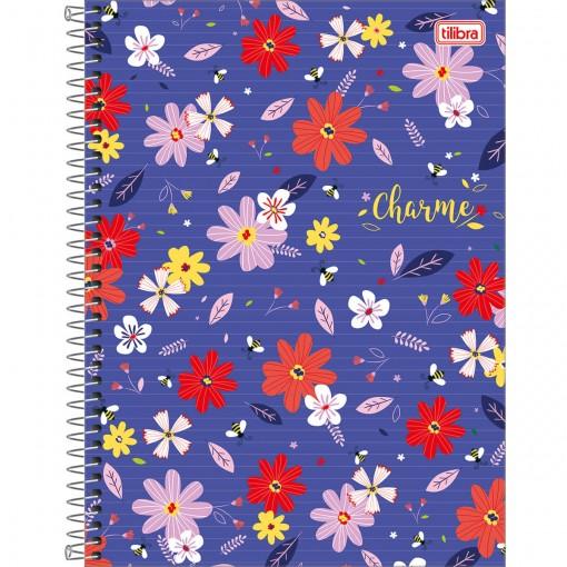 Caderno Espiral Capa Dura Universitário 1 Matéria Charme 80 Folhas (Pacote com 4 unidades) - Sortido