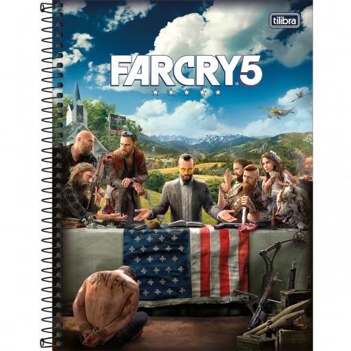 Caderno Espiral Capa Dura Universitário 1 Matéria Far Cry 80 Folhas - Sortido