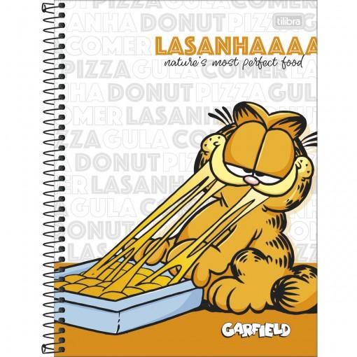 Caderno Espiral Capa Dura Universitário 1 Matéria Garfield 80 Folhas (Pacote com 4 unidades) - Sortido
