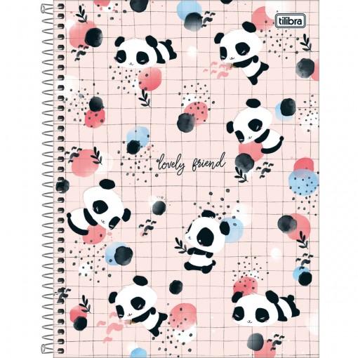 Caderno Espiral Capa Dura Universitário 1 Matéria Lovely Friend 80 Folhas (Pacote com 4 unidades) - Sortido