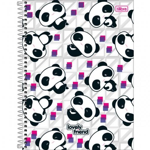 Caderno Espiral Capa Dura Universitário 1 Matéria Lovely Friend 96 Folhas - Sortido (Pacote com 4 unidades)