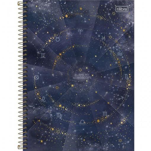 Caderno Espiral Capa Dura Universitário 1 Matéria Magic 80 Folhas - Blame My Horoscope - Sortido