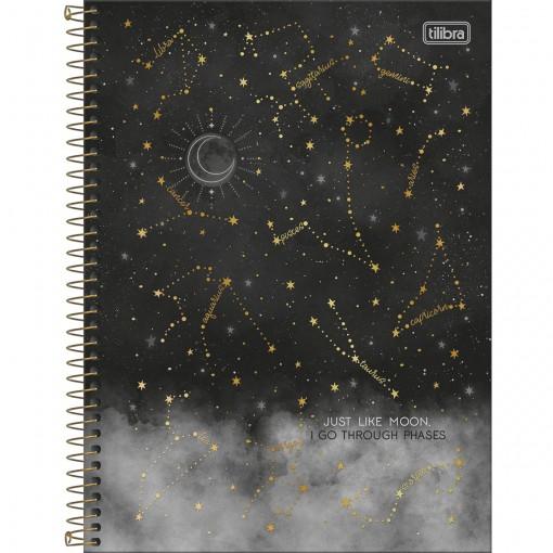 Caderno Espiral Capa Dura Universitário 1 Matéria Magic 80 Folhas - Just Like Moon - Sortido