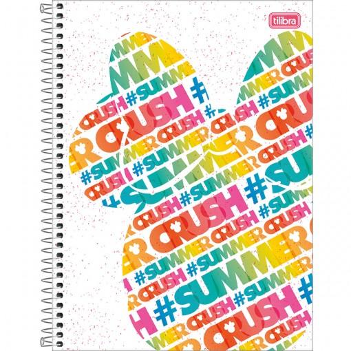 Caderno Espiral Capa Dura Universitário 1 Matéria Minnie Fashion 80 Folhas (Pacote com 4 unidades) - Sortido