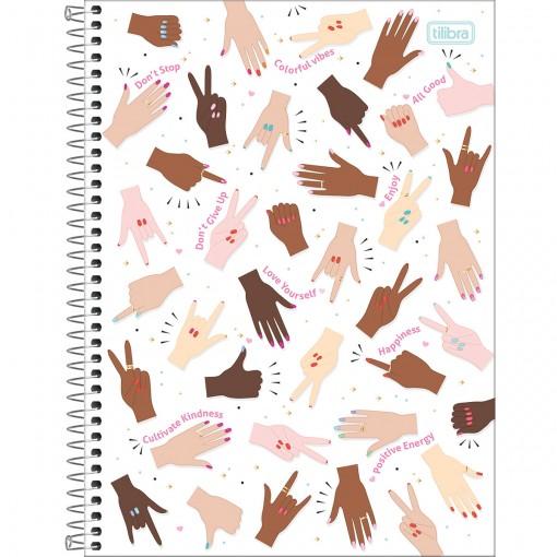 Caderno Espiral Capa Dura Universitário 1 Matéria Oh My God! 80 Folhas - Sortido
