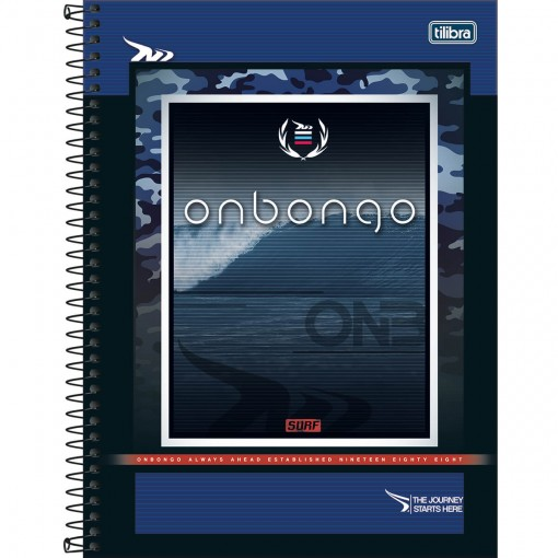 Caderno Espiral Capa Dura Universitário 1 Matéria Onbongo 80 Folhas (Pacote com 4 unidades) - Sortido